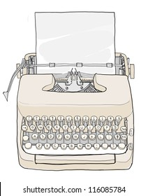 Cream Typewriter vintage