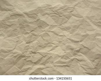 Creased paper in ecru beige shades