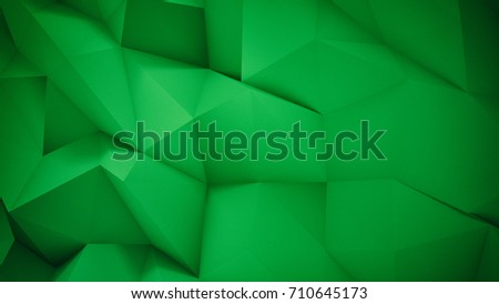 Creative Abstract Green Wallpaper Triangle Background 3D Render