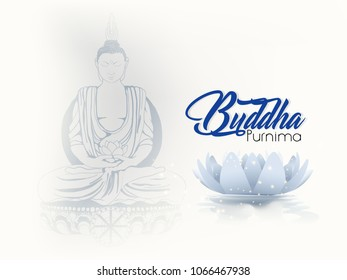 creative abstract, poster for Vesak Day or Buddha Purnima with lotus flower, nice and creative design illustration.