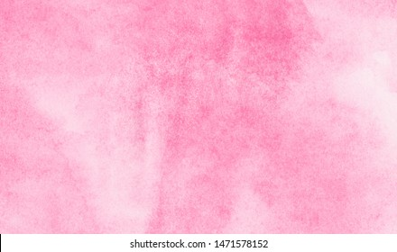 Creative aquarelle painted magenta watercolor canvas for splash design, invitation background, vintage template. Subtle light pink color ink effect shades gradient on textured paper