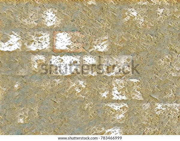 Creative background.Old grunge brick wall for loft design poster
