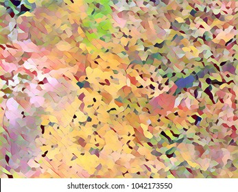 Creative background texture for custom poster design in yellow, green and brown colors.Digital illustration,unique pattern for backdrop