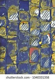 Creative background texture for poster design.Custom digital pattern for wallpaper