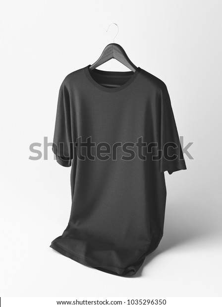 Hanger Black T Shirt Mockup