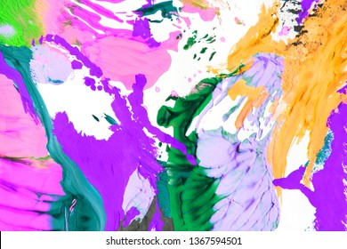Creative colorful abstract background. Painting. Be creative, be happy. Art therapy.