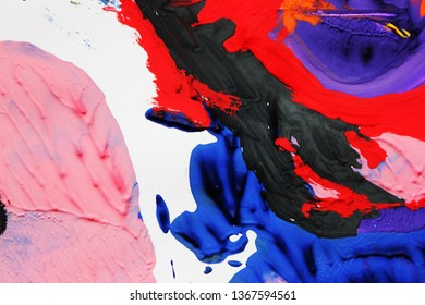 Creative colorful abstract background. Painting or Сreative process, spontaneity, fluidity, art therapy, treatment, happiness, painting, development.