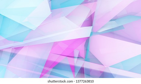 Creative Concept Abstract Background with Crystal Shapes Line