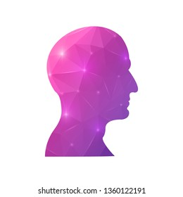 Creative concept head silhouette for Web and Mobile Applications isolated on background. illustration, creative template design, Business software and social media