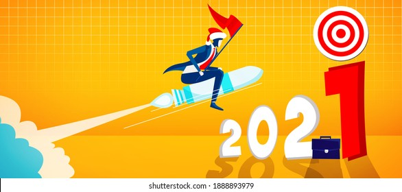 Creative design concept for the year 2021. 3D illustration