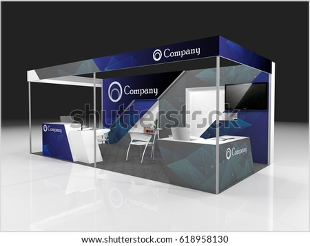 Exhibition Stand Or Booth : Creative exhibition stand design booth template stock illustration