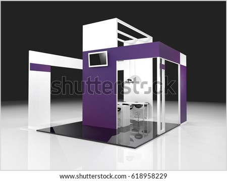 Exhibition Stand Template : Royalty free stock illustration of creative exhibition stand
