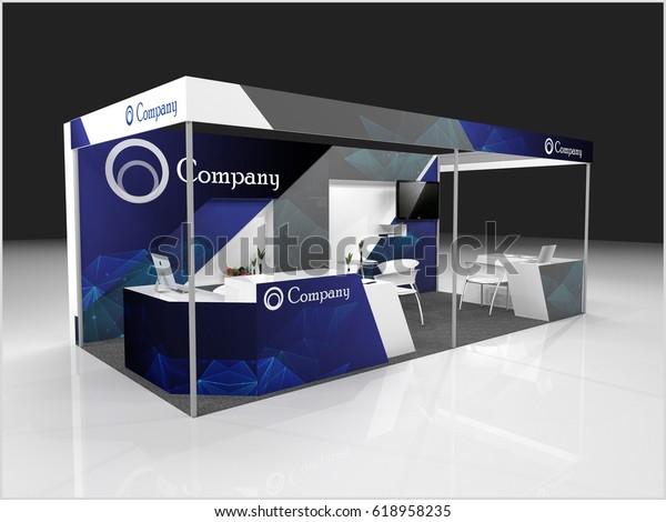 Creative Exhibition Stand Design : Creative exhibition stand design booth template stock illustration