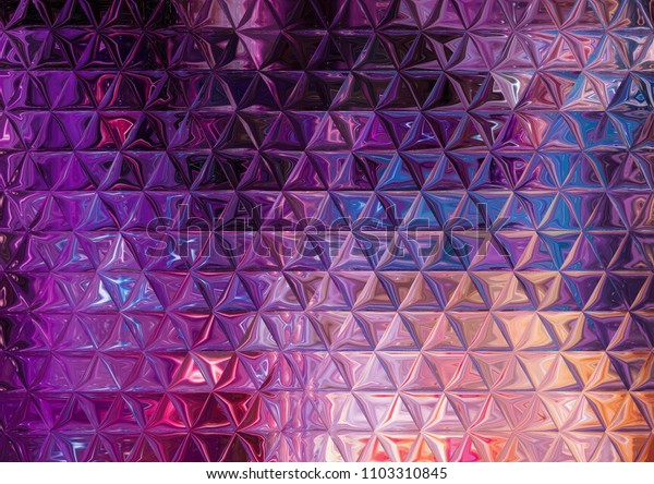 Creative faded triangles pattern background. Abstract oil painting texture. Good for any printed production, print on fabric, clothes and ceramic. Template for design products decoration.
