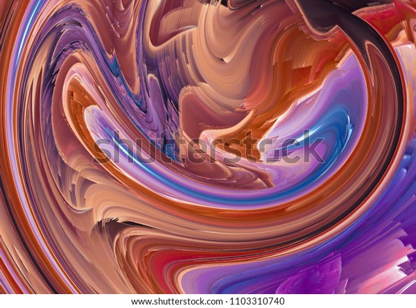 Creative fantastic fractal art. Colorful digital painting artwork or wallpaper.  Good for any printed production, print on fabric, clothes and ceramic. Template for design products decoration.