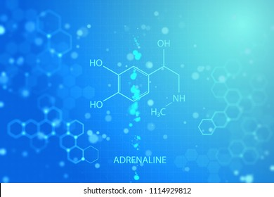 Creative glowing chemical background. Chemistry concept. 3D Rendering