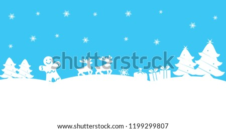 creative happy new year theme on white and blue background with winter icons for your winter