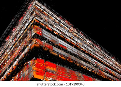 Creative Illustration - Abstract Form and Texture - Diagonal Lines 1 - Colorful