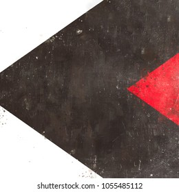 Creative Illustration - Abstract Texture - Metal - Black and Red