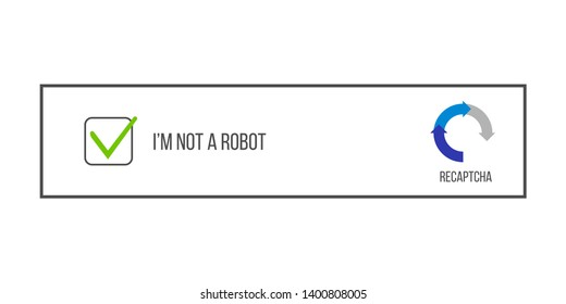 Creative illustration of captcha - i am on a robot isolated on background. Art design security login computer code. Abstract concept completely automated public turing test graphic element