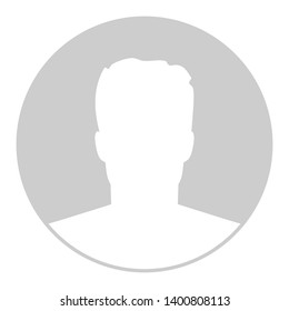 Creative illustration of default avatar profile placeholder isolated on background. Art design grey photo blank template mockup. Abstract concept graphic element