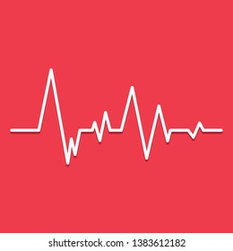 Creative illustration of heart line cardiogram isolated on background. Art design health medical heartbeat pulse. Abstract concept graphic element