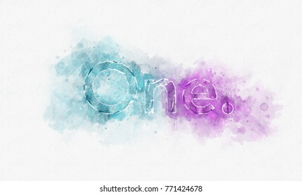 Creative Illustration - One - Logo - Watercolor Painting