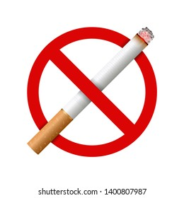 Creative illustration of realistic cigarette set isolated on background. Art design different stages of burn. Abstract concept graphic element