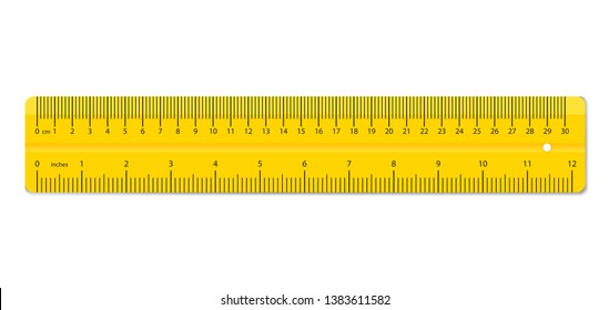 Creative illustration of realistic colorful rulers isolated on background. Art design measuring tool supplies. Abstract concept graphic element