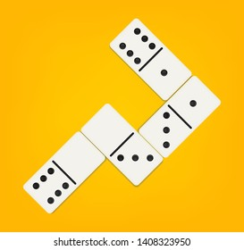 Creative illustration of realistic domino full set isolated on background. Dominoes bones art design. Abstract concept 28 pieces for game graphic element