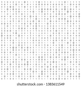 Creative illustration of stream of binary code. Computer matrix background art design. Digits on screen. Abstract concept graphic data, technology, decryption, algorithm, encryption element