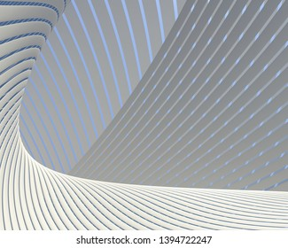 Creative imaginary architectural curved design