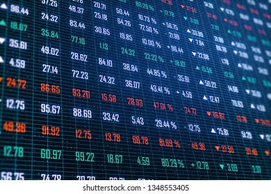 Creative index forex background. Broker and trade concept. 3D Rendering