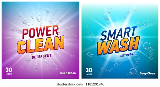 creative laundry detergent concept packaging design template set