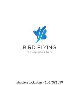 Creative modern bird flying logo