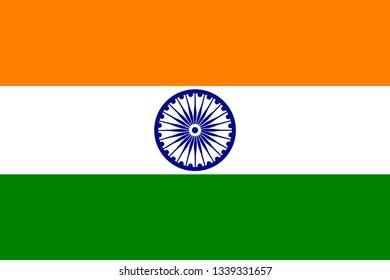 Creative national flag color design on shiny background for Indian Independence Day celebration