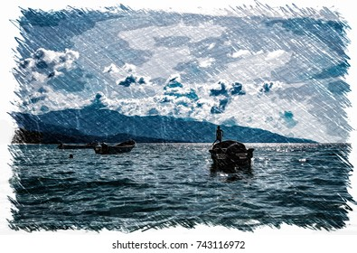 Creative photography - sea landscape illustration (Caracas, Venezuela).