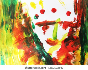 Creative process, abstract art. Art therapy, сonfusion, face, art therapy, eyes, image, mother, man, rain man, sadness, fire, creative search.