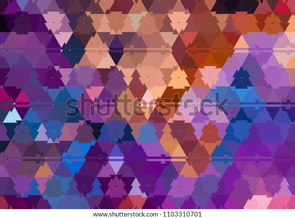 Creative triangles pattern background for labels, booklets, flyers and posters or covers. Good for any printed production, print on fabric, clothes and ceramic. Template for design products decoration