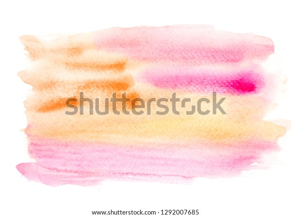 Creative Watercolor Painting Ideas Colorful Shades Stock Illustration 1292007685