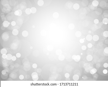 Creative white bokeh background for abstract backgrounds