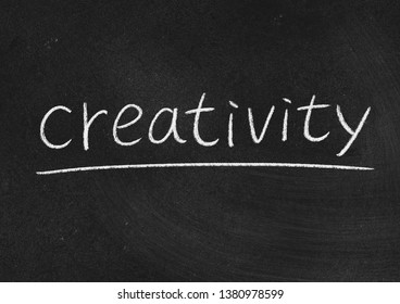 creativity concept word on a blackboard background
