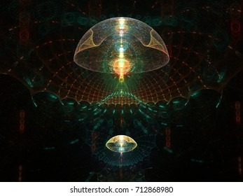 Creatures of the deep - abstract fractal rendering