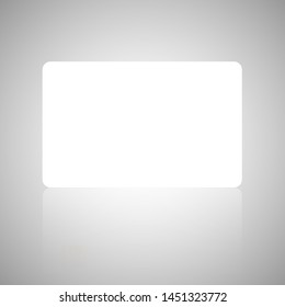 Credir card mock up or gift card mock up with white empty background
