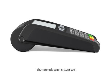 Credit Card Machine Isolated. 3D rendering