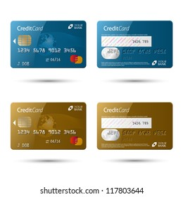 Credit cards, isolated (vector also available)