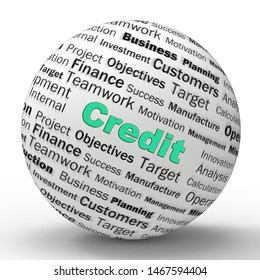 Credit line concept icon  referring to bank loans or borrowed money. Finance for shopping or commerce - 3d illustration