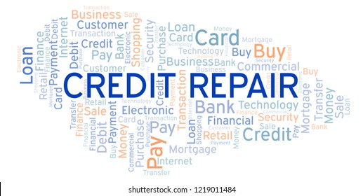 Credit Repair word cloud.