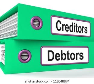 Creditors Debtors Files Showing Lending And Borrowing