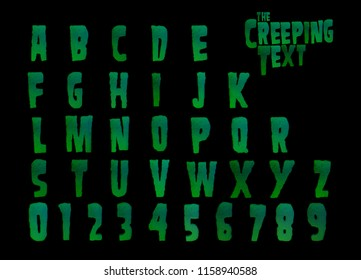 The Creeping Text! - 3D Illustrated horror alphabet